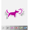 realistic design element dog barking vector image vector image