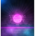 Retro Neon Background 1980 Neon Poster Retro vector image vector image