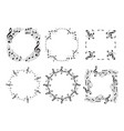 round and wavy music frames with notes vector image