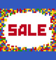 sale plastic color constructor block template vector image