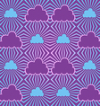 Seamless sky with clouds vector image vector image