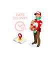secure delivery safe deliver symbol vector image