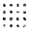 set 16 different universal icons for sites vector image vector image
