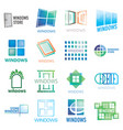 set of logos of windows doors vector image