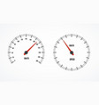 speed counter or speedometer dashboard car with vector image