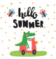 summer croco vector image