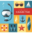 Summer icons set 1 vector image vector image