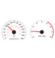 tachometer and speedometer scale vector image vector image