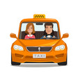 taxi cab car cartoon transportation concept vector image vector image