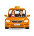 taxi cab car cartoon transportation concept vector image