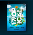 tropical summer party flyer design template vector image vector image