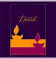 two flat diwali diya background vector image vector image