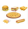 various foods vector image vector image