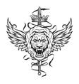 Vintage symbol of a lion head vector image vector image
