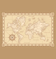 vintage worldwide map design vector image vector image