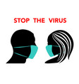 virus human faces black vector image