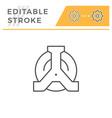 wheel clamp editable stroke line icon vector image vector image
