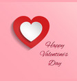 whit and red hearts on pink vector image vector image