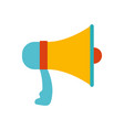 White background with colorful megaphone