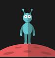 blue alien red planet vector image