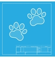 Animal Tracks sign White section of icon on vector image vector image