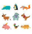 Animals In Human Clothes vector image