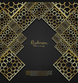 arabesque gold pattern background template vector image