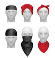 bandanas set stylish clothes for bikers and vector image vector image
