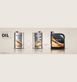 bottle engine oil on a background a motor-car vector image vector image