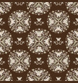 butterfly mandala pattern on a brown background vector image vector image