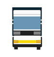 cargo truck isolated icon vector image vector image