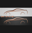 cars backgrounds vector image vector image