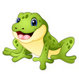 cartoon funny frog vector image