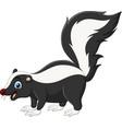 cartoon happy skunk on white background vector image vector image