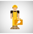 character construction man with tool box brush vector image
