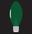 Christmas light bulb vector image