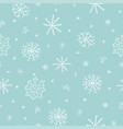 christmas seamless pattern with snowflake on blue vector image