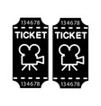 cinema tickets glyph icon vector image