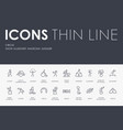 circus thin line icons vector image