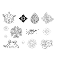 Collection of Black and White Vintage Pattern vector image vector image