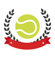 color emblem with olive crown and tennis ball vector image vector image