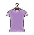 colored crayon silhouette of woman t-shirt in vector image vector image