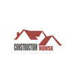construction house logo vector image vector image