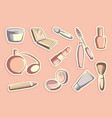 cosmetics stickers vector image