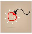 Creative heart Idea concept vector image vector image
