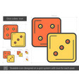 dice cubes line icon vector image