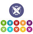 eco bio vegetables icons set color vector image vector image