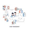 event management concept event management concept vector image vector image