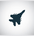 fighter plane icon simple flat element concept vector image vector image