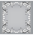 Filigree frame with sketch doodles ornaments vector image vector image